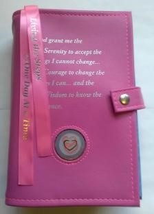 AA Double Book Cover with Serenity Prayer