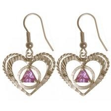 AA Heart Symbol Birth Stone Earrings
