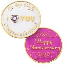 Wife Anniversary Medallion