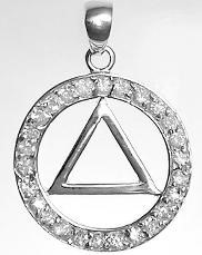 AA Sterling Pendant