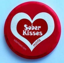 Sober Kisses Heart Mints