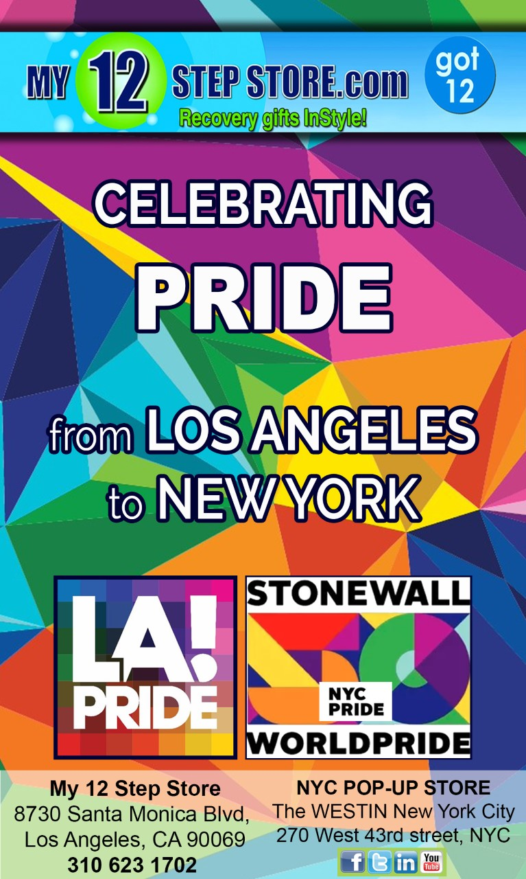 My 12 Step Store Celebrates Pride Month with Events During LA Pride and Pop-up Store at New York's Stonewall World Pride